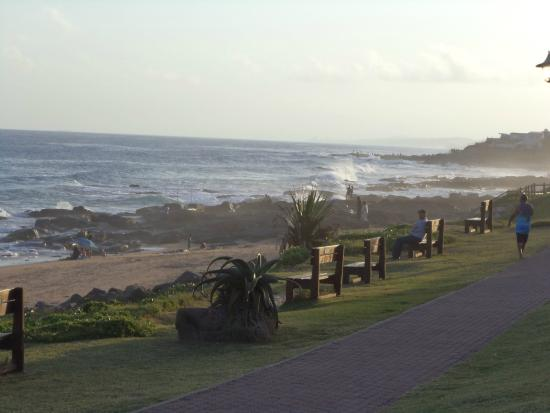 Bed & Breakfast by the Sea: The boardwalk at nearby Ballito on a summer's evening