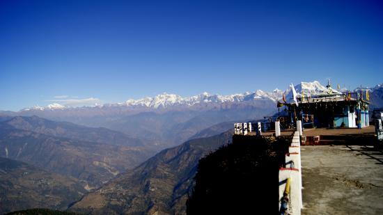 Rudra Prayag, Indien: Kartik Swami with Himalaya Range
