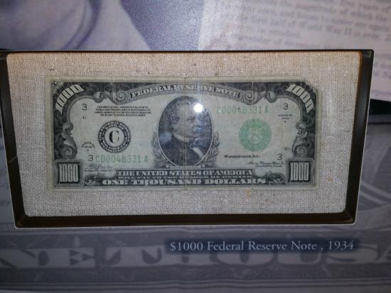 $10,000 bill from 1934 - Picture of Federal Reserve Bank of