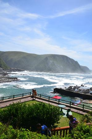 Tsitsikamma Restaurant: View towards Storms river mouth