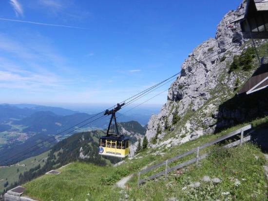Wendelstein: Anreisemöglichkeit No.1: Kabinenbahn