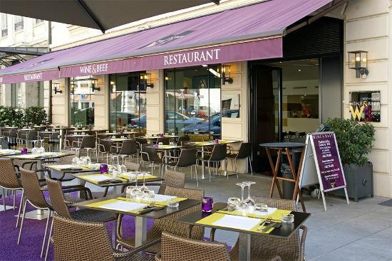 Wine & Beef Levrier: Terrasse