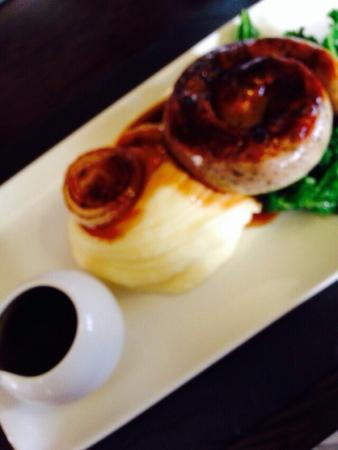 The Knife & Cleaver: The BEST sausage and mash!
