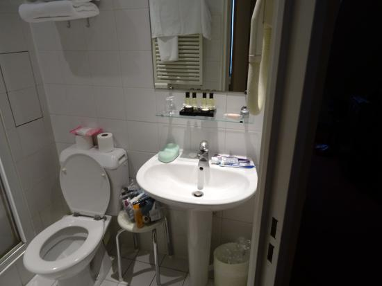 Hotel Montparnasse Daguerre : the en-suite - adequate