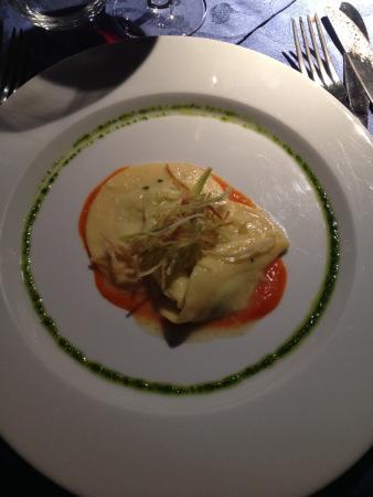 Ristorante La Stalla: Medaglione di patate e asparagi