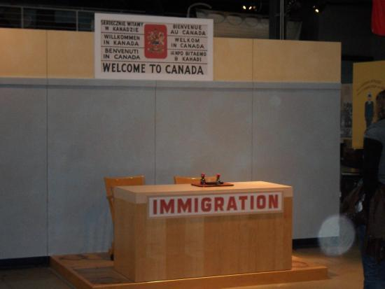 Canadian Museum of Immigration at Pier 21: immigration table