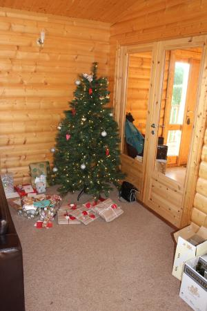 Greetham Valley Hotel: The tree that was waiting for us on arrival!