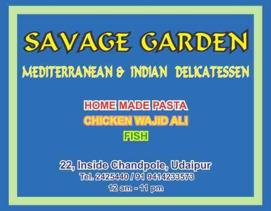 savage garden restaurant