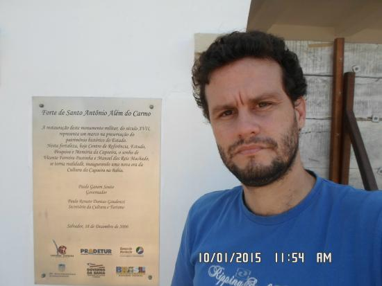 Santo Antonio Alem do Carmo (Capoeira) fort : David no Forte de S. Antônio Além do Carmo