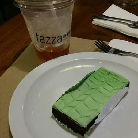 Tazza Cafe and Patisserie, Lahug: Mint Brownie