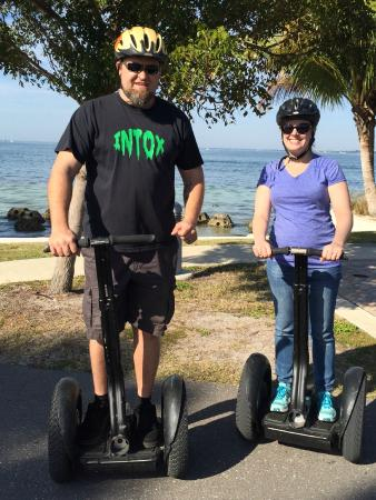 Magic Carpet Glide: Taking a break on the Segway