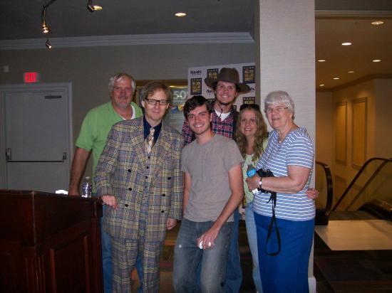 Mac King Comedy Magic Show : Mac mugs for a group shot
