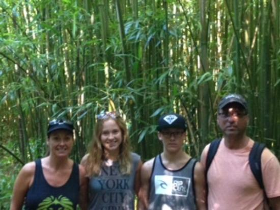 Maui Hiking Safaris Hiking Tours : Surrounded by Bamboo!