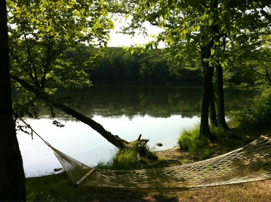 Mongaup Pond Campground: Site G 144 by the water