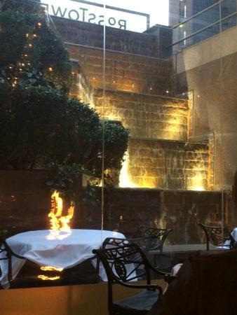 Dakotau0027s Steakhouse: Waterfall In Patio
