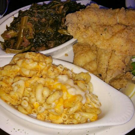 Fried lobster rasta pasta picture of bed stuy fish fry for Bed stuy fish fry