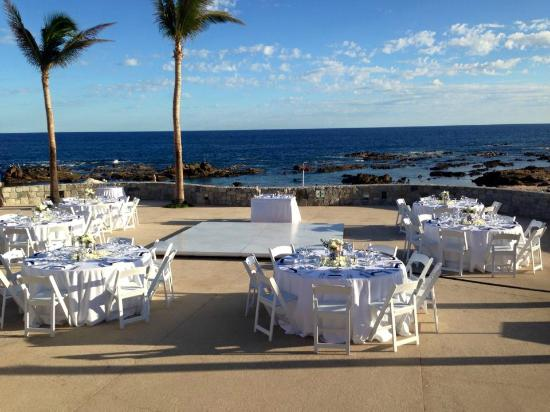 Grand Fiesta Americana Los Cabos All Inclusive Golf Spa Destination Wedding Set Up On