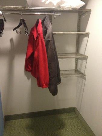 SpringHill Suites Pensacola: A real closet in a hotel room!