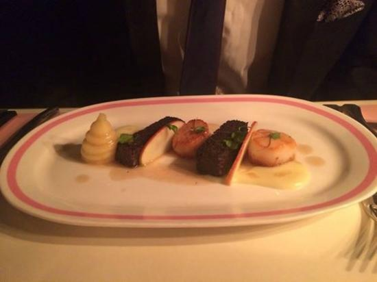 Bob Bob Ricard : scallops, black pudding & apple