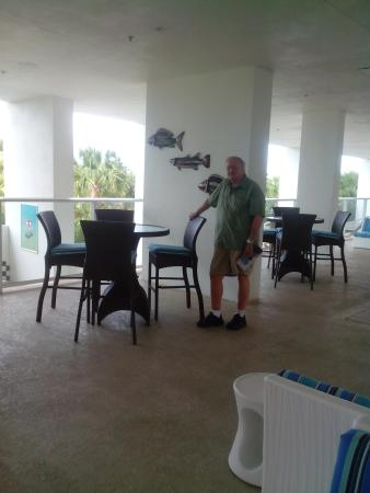 Marriott's Crystal Shores: breezeway where most evening activities occurred.