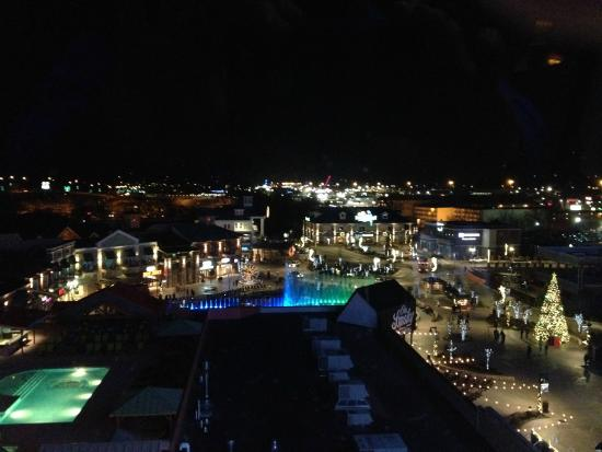 Margaritaville Island Hotel View At Night From Balcony