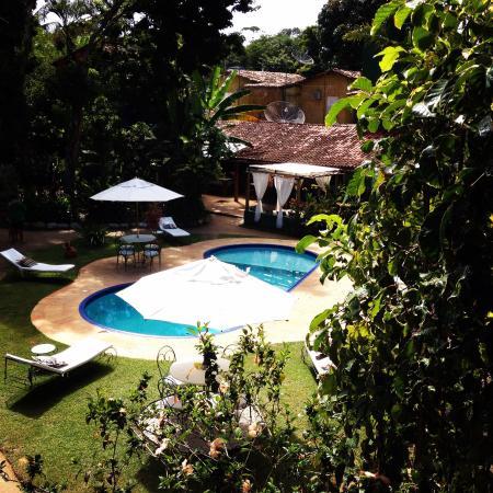 Pousada Raízes do Brasil: Foto tirada de cima do Chalé onde ficamos hospedados!