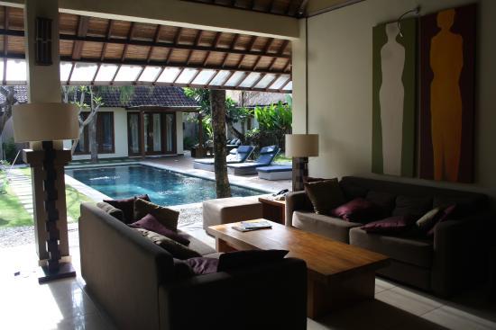 Villa Staman: The sitting area