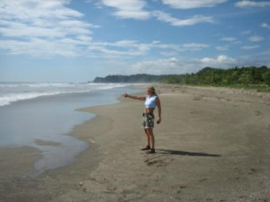 Playa San Miguel, Costa Rica: Connie on the beach at San Miguel