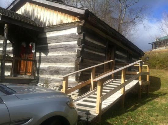 Castlewood, VA: Handicap ramp added to old one-room schoolhouse/church.