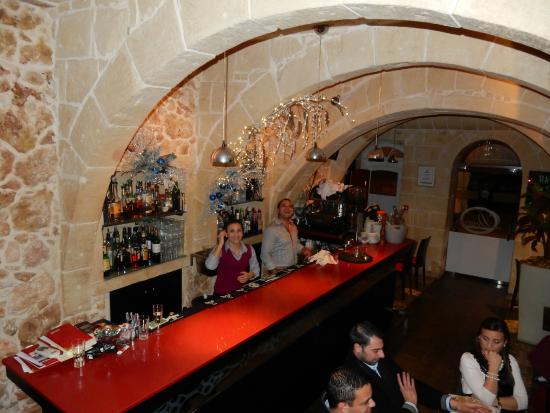 Dvenue : The bar area from the winding staircase to 1st floor