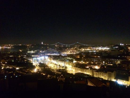 Miradouro da Senhora do Monte : View at night