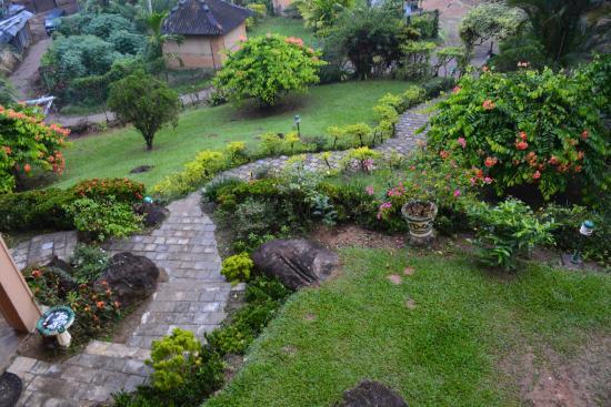 Minara Bopathella: Garten - Ausblick vom Zimmer