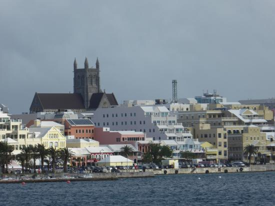 Cathedral of the Most Holy Trinity (Bermuda Cathedral): The Cathedral from the harbour.