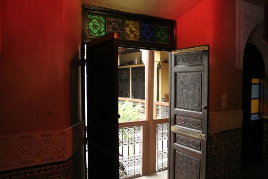 Riad Amlal: The front door to our room