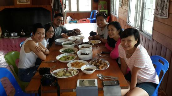 The Ngimat Ayu House Bario: Our lunch :) love it!