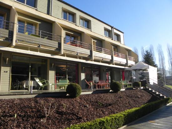 Hotel du Lac : la terrazzina sul laghetto