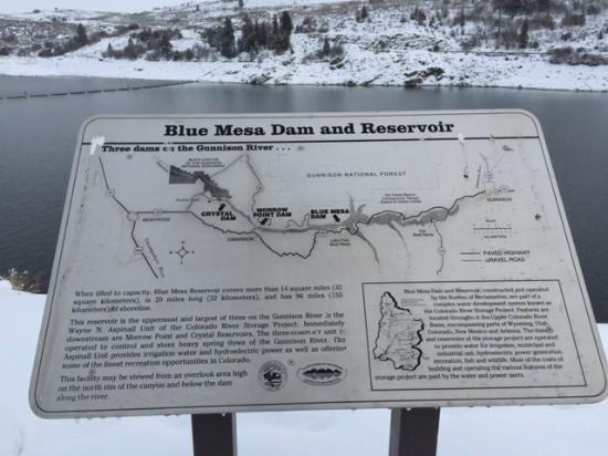 Cimarron, CO: Blue Mesa Dam - Gunnison River, CO