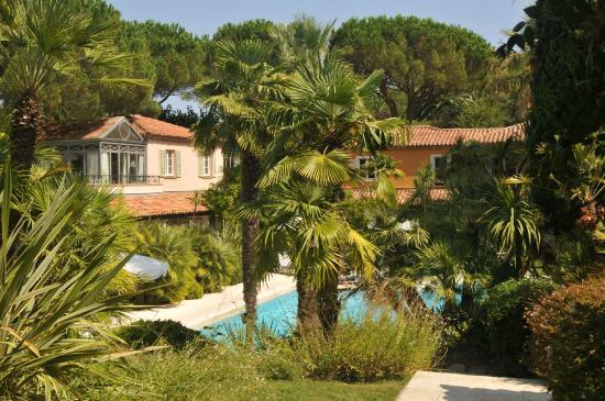 La Bastide de Saint Tropez: Vue parc et piscine