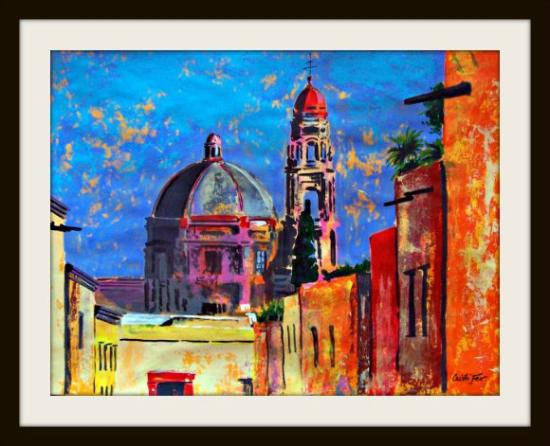Cristi Fer Art Gallery and Workshops : We have original art at studio prices, acrylic on paper, easy to transport in a tube. 19.5