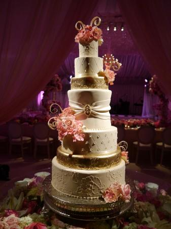Extravagant pink and gold wedding cake - Picture of Cake Expressions ...