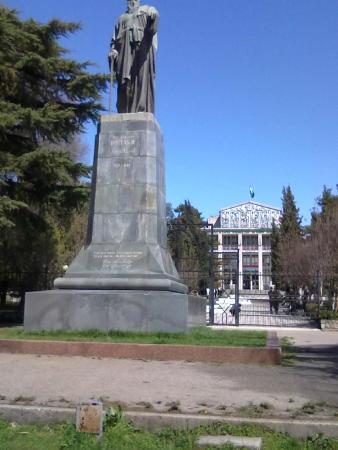 Rudaki Statue