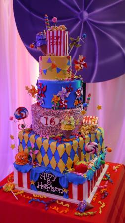 Admirable Carnival Themed Sweet 16 Cake Picture Of Cake Expressions By Personalised Birthday Cards Paralily Jamesorg