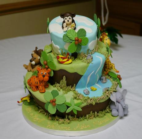 Cake Expressions By Lisa: Jungle Themed Baby Shower Cake
