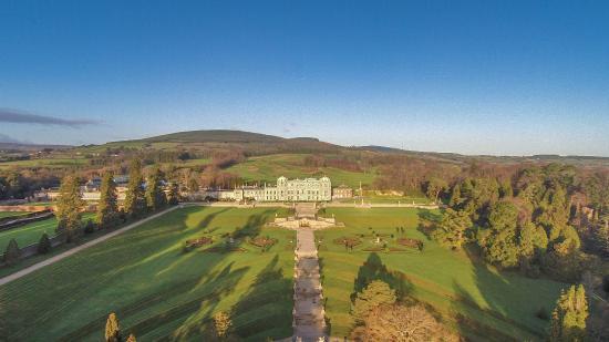 Aerial Shot Powerscourt House And Gardens Bild Von Powerscourt Gardens And House Enniskerry