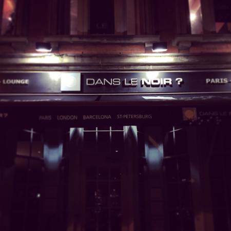 Entrance picture of dans le noir london tripadvisor for Dans ke noir