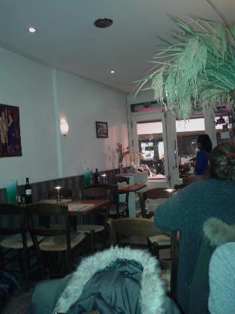 Restaurant inside at quiet moment