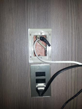 Hotel New Salus: Room outlet