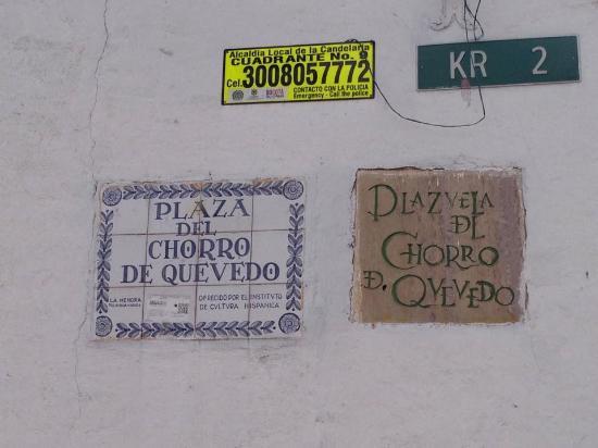 Plaza Del Chorro Del Quevedo: Nomenclatura