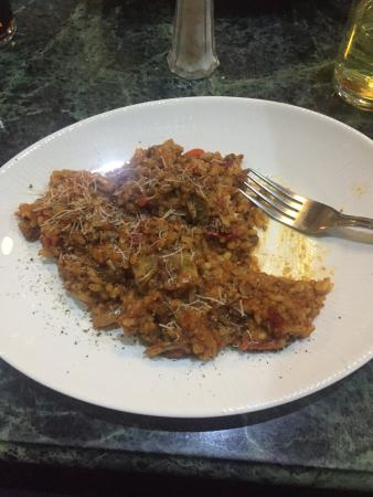 Portofinos Restaurant: Best Bolognese risotto in newcastle, with greater parmesan... Grated with an electric grater!!