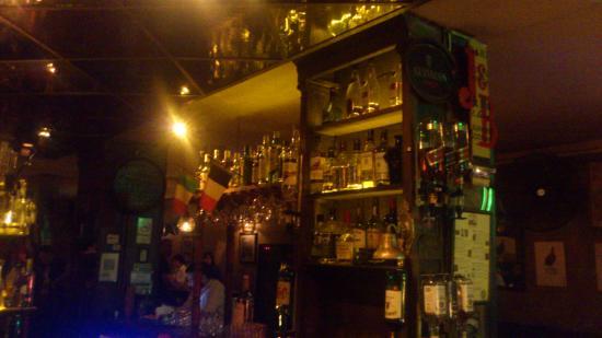 The Temple Bar: Parte interna do balcão